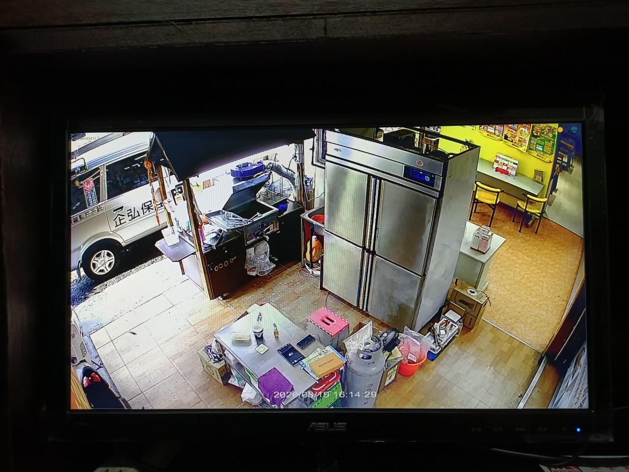 李瑢甄女士小吃攤安裝監視系統