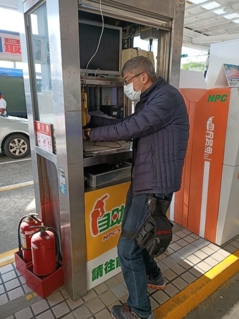 中華大順加油站 安裝警民連線系統開通上線