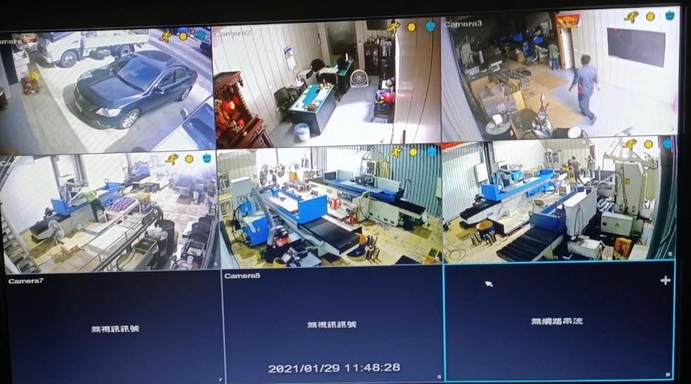 元*太有限公司換新八路錄影機和追加兩支攝影機工程